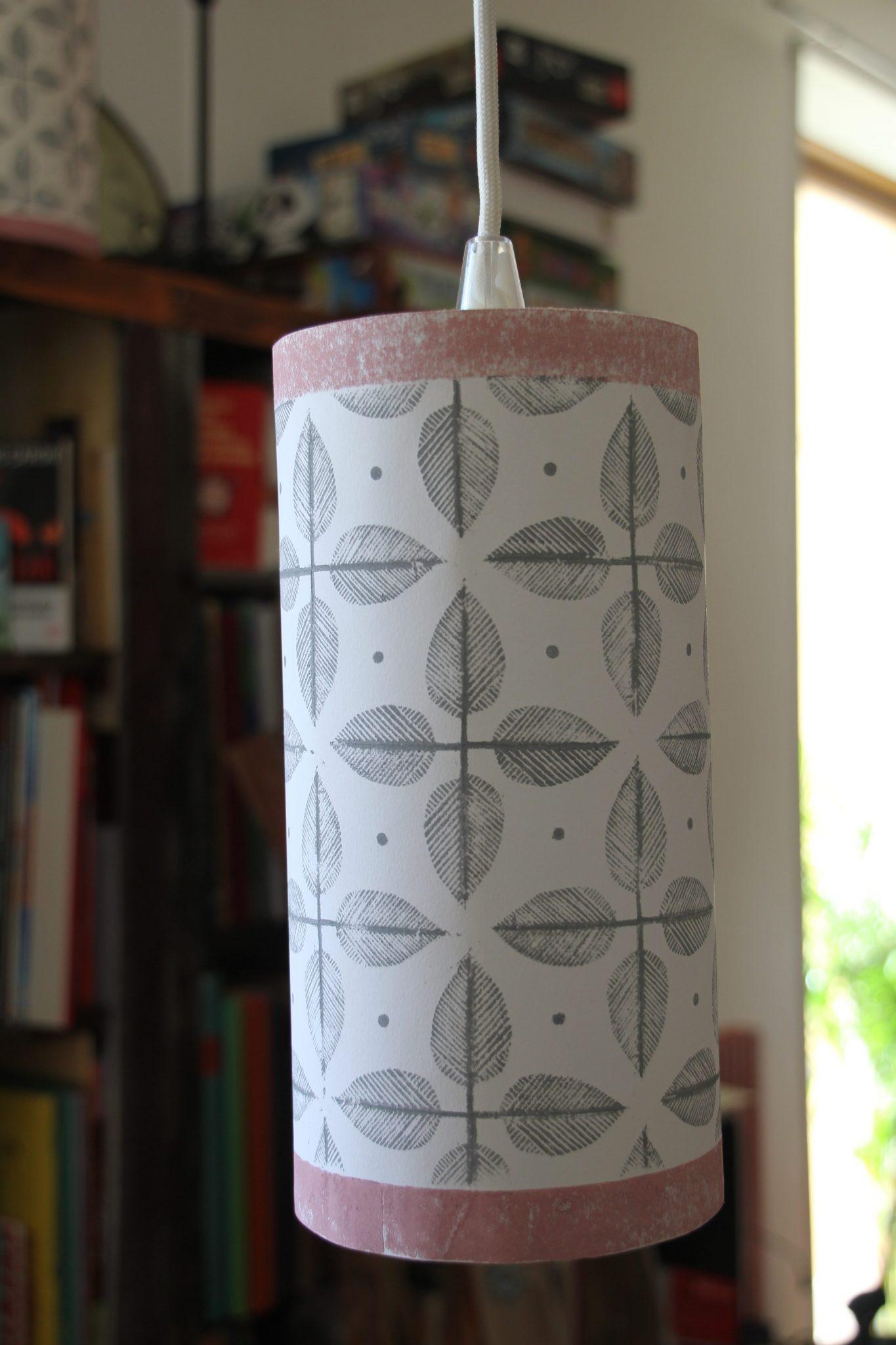 lampe suspendue | LinoLino | Linogravure | Créations artisanales