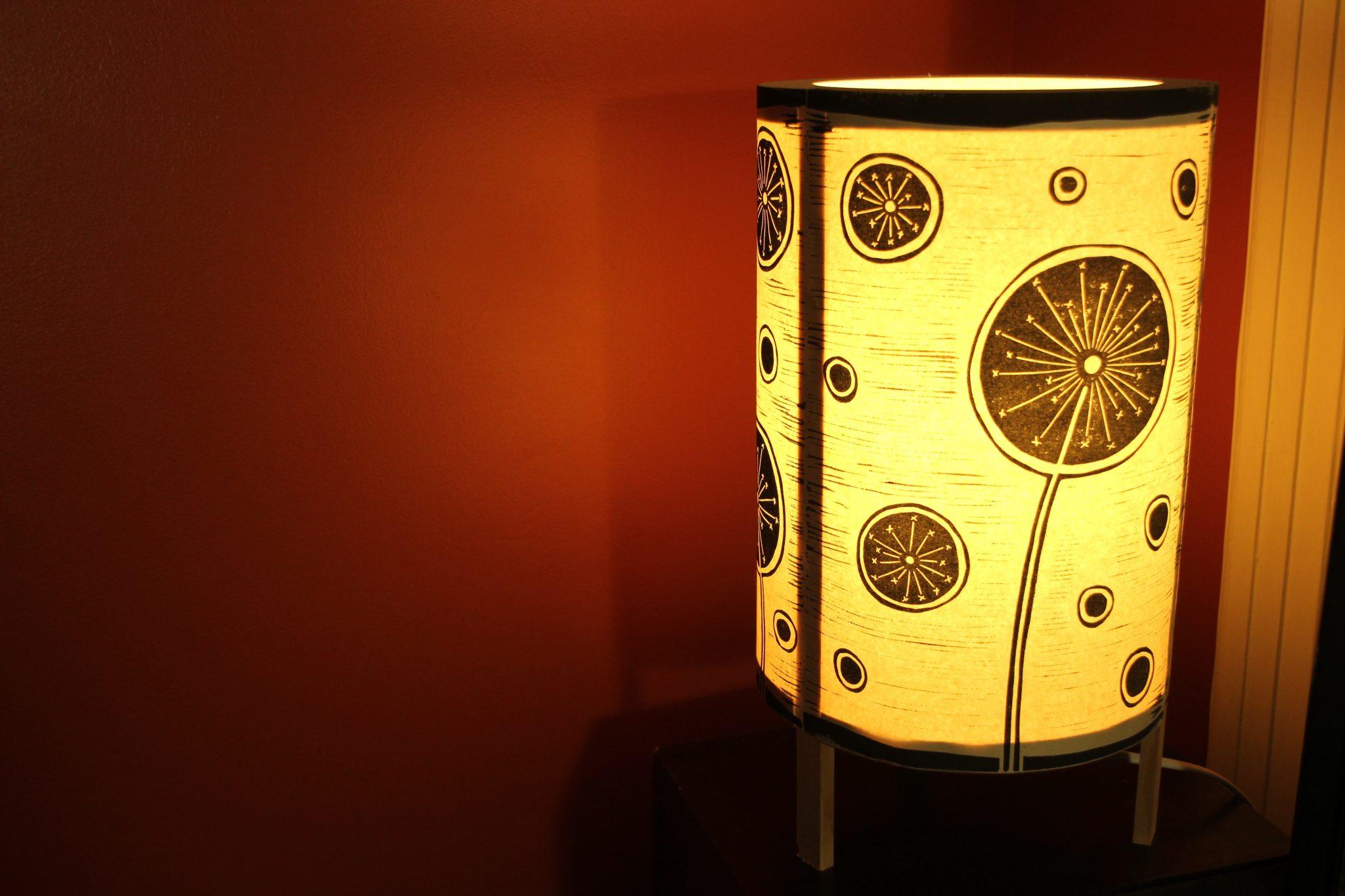 lampe artisanale | LinoLino | Linogravure | Créations artisanales