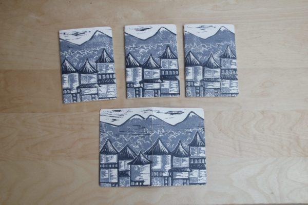 carnet Matin Calme linogravure | LinoLino | Créations artisanales