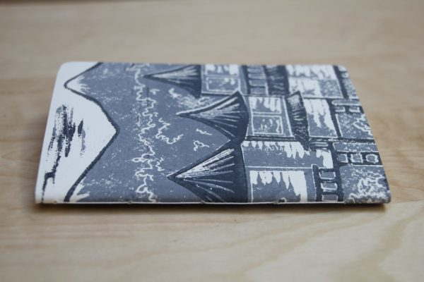 carnet Matin Calme linogravure (tranche) | LinoLino | Créations artisanales