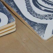 carnet poulpe linogravure (bords arrondis)   LinoLino   Créations artisanales