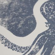 carnet poulpe linogravure   LinoLino   Créations artisanales