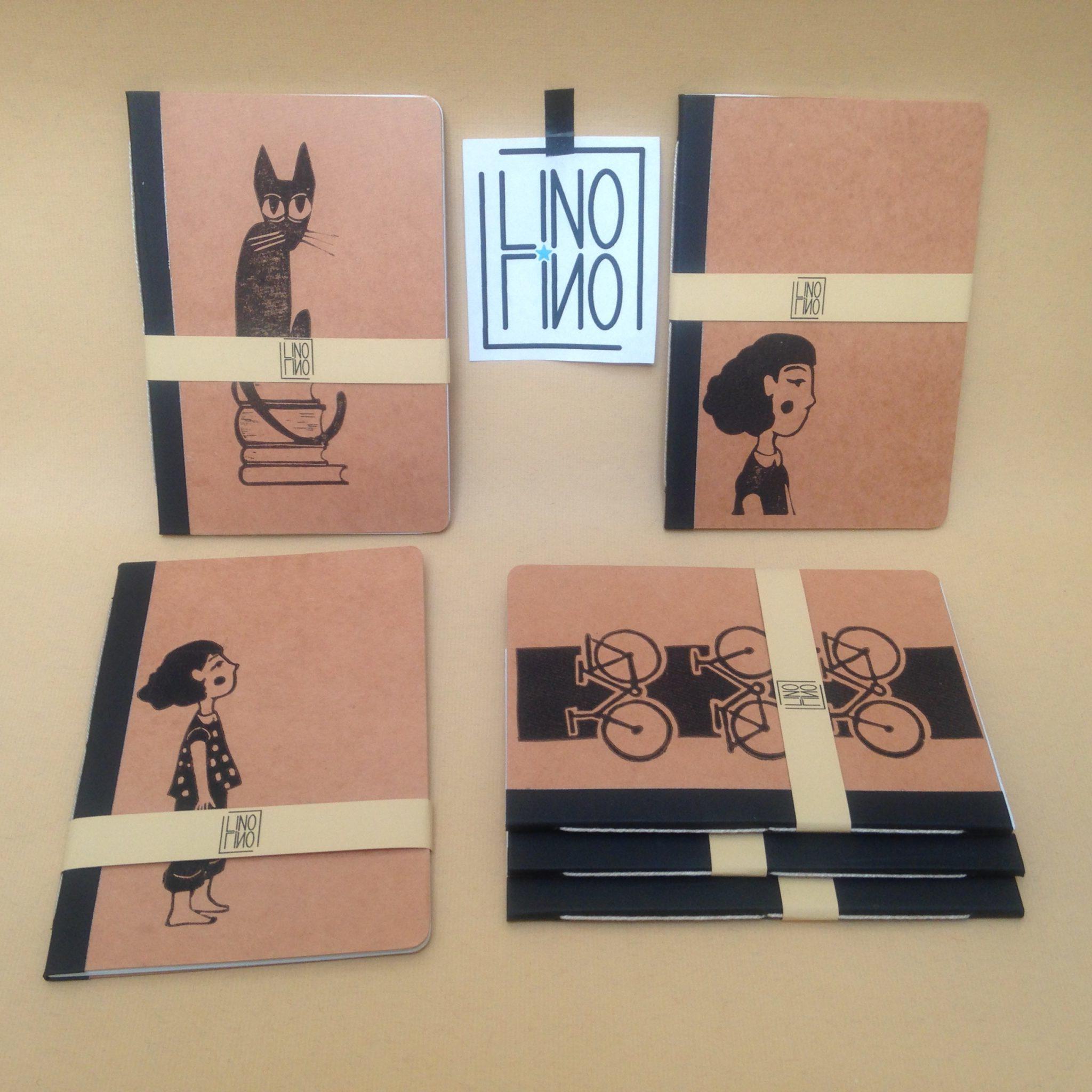 LinoLino | Linogravure et créations à partir d'impressions artisanales | Chambéry, France | Impression originale illustration carnetsForge