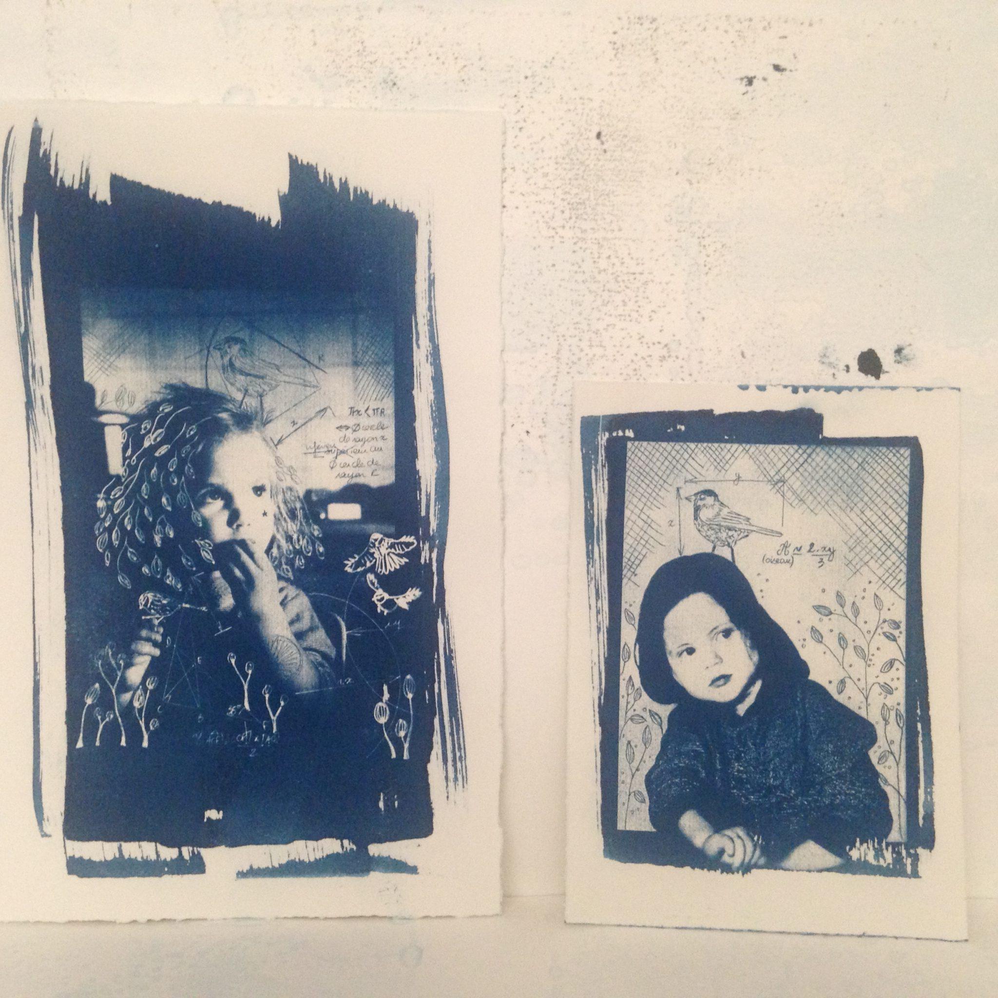 LinoLino | Linogravure et créations à partir d'impressions artisanales | Chambéry, France | Impression originale illustration cyanotypes