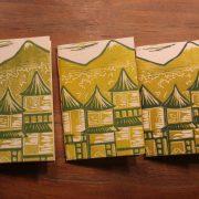 LinLino Linogravure et créations | Carnet A6 Matin Calme série verte