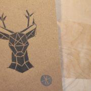 LinoLino - linogravure et créations | Petits carnets kraft Origami