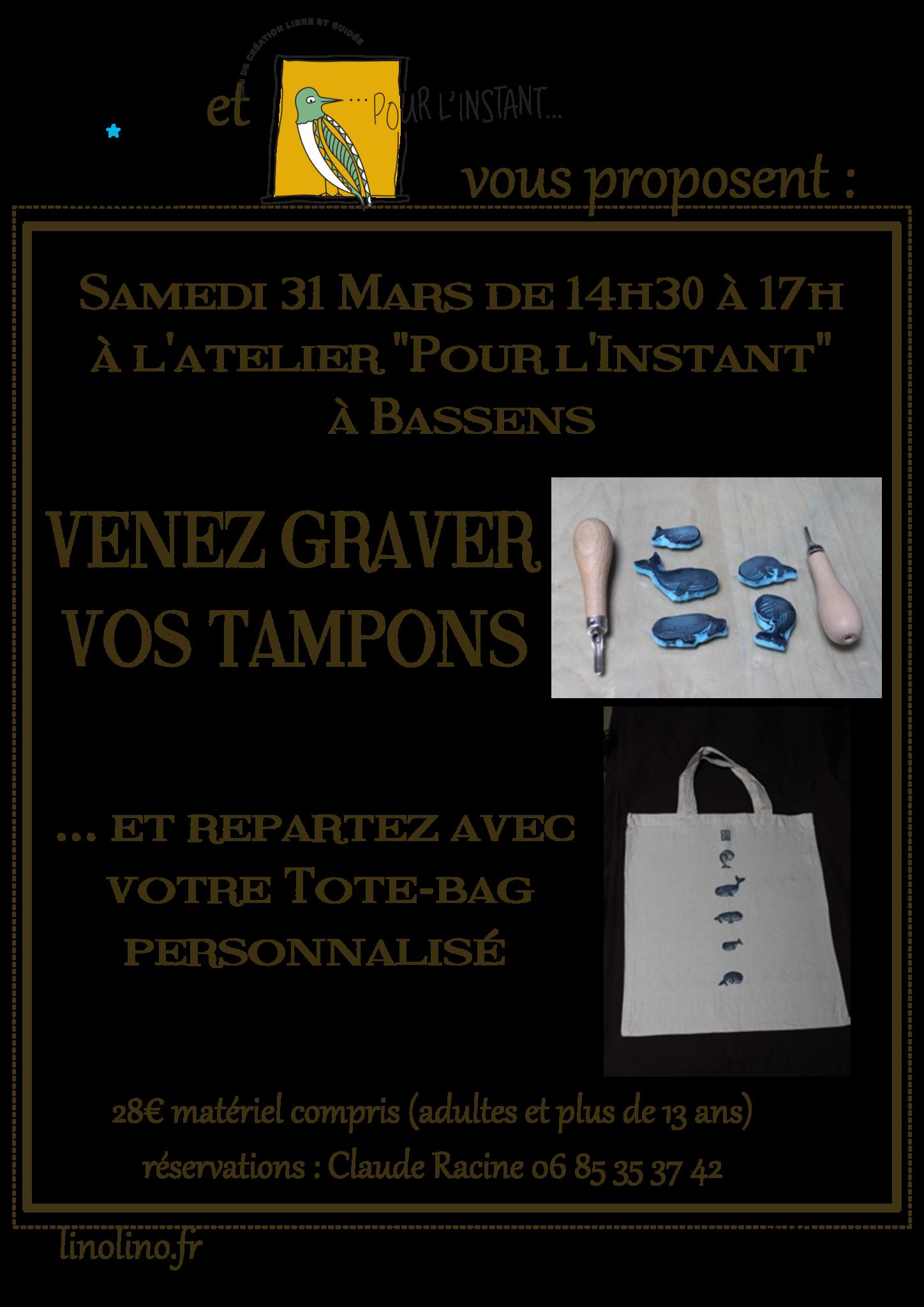 LinoLino | Linogravure et créations à partir d'impressions artisanales | Chambéry, France | Atelier Gravure de tampons, Bassens