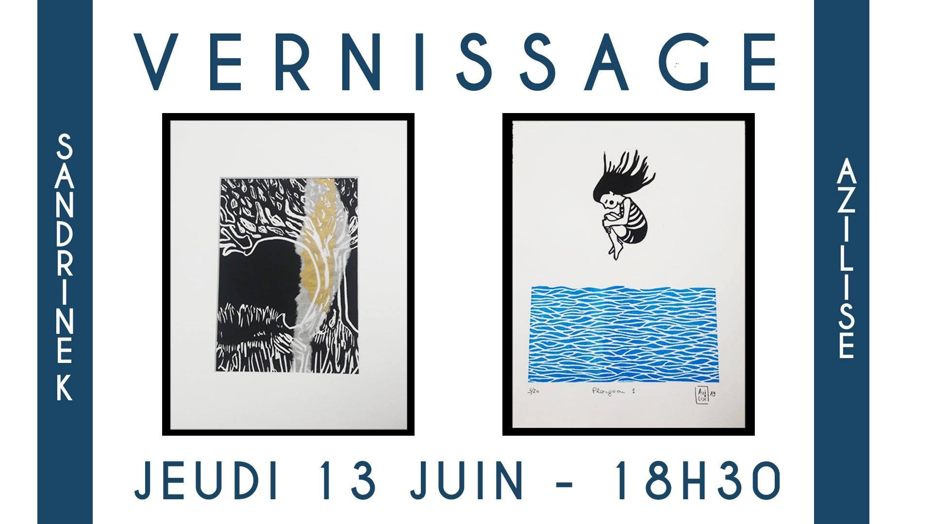 LinoLino | Linogravure et créations à partir d'impressions artisanales | Chambéry, France | Atelier32 boutique Aix les bains art artistes créateurs Vernissage expo