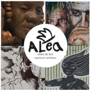 LinoLino | Linogravure et créations à partir d'impressions artisanales | Chambéry, France | Exposition collectivre Aléa aux Thermes de Challes-les-Eaux, septembre 2018