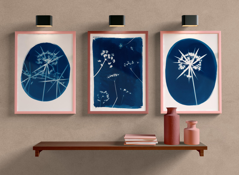LinoLino | Linogravure et créations à partir d'impressions artisanales | Chambéry, France | Mockup cyanotype photogrammes papyrus